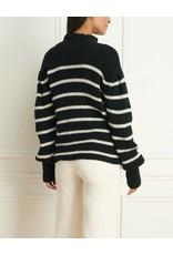 Iris Louka Alpaca Wool Blend Stripe Sweater