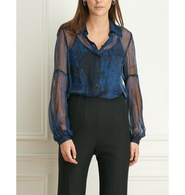 Iris Sheer Animal Print Blouse