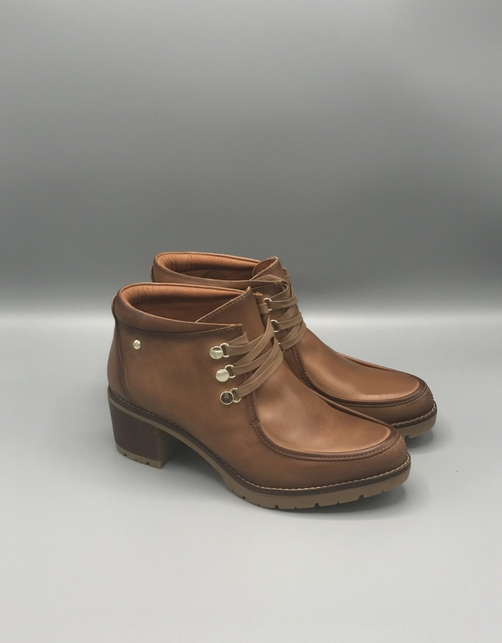 Pikolinos Llanes Lace Up Leather Boot   60mm