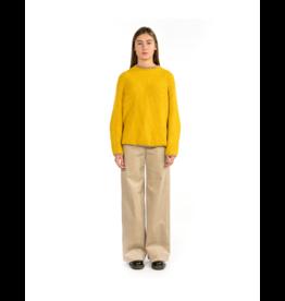 Good Match Contrast Cuff Crewneck Sweater