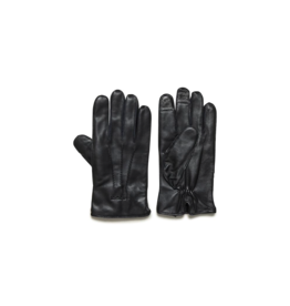 Matinique Black Leather Gloves