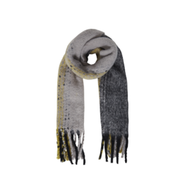 ICHI Striped Scarf, Bronze