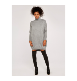 Apricot Rollneck Cocoon Sweater Dress