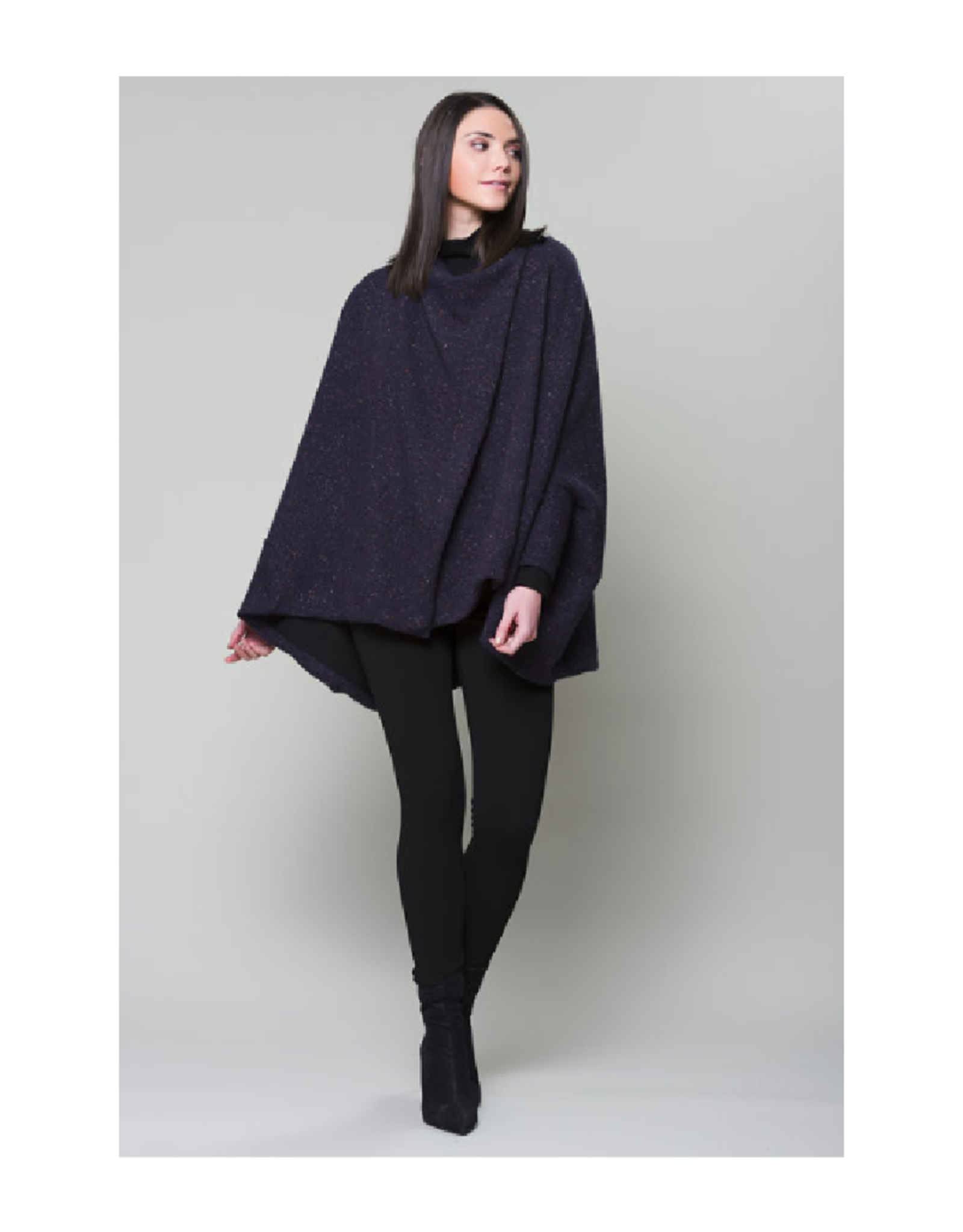Ruelle Storm Poncho Combo Cardigan
