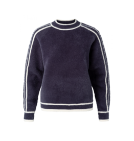 YaYa Athletic Crewneck Fuzzy Sweater