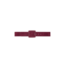 Lezalez Suede Covered Buckle Belt