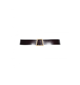 Anonyme Amelia Leather Belt w/Trapezoid Buckle