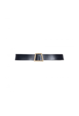 Anonyme Anonyme  Amelia Leather Belt w/Trapezoid Buckle