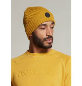Dstrezzed Cotton Blend Tonal Stripe Rolled Toque Mustard