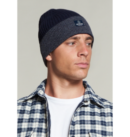 Dstrezzed Cotton Blend Tonal Stripe Rolled Toque