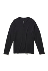 Robert Barakett Pima Cotton Long-Sleeve Henley Top