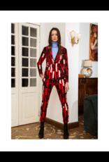 Anonyme Giorgia Knit Printed Blazer