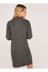 Apricot Cable Knit Dress