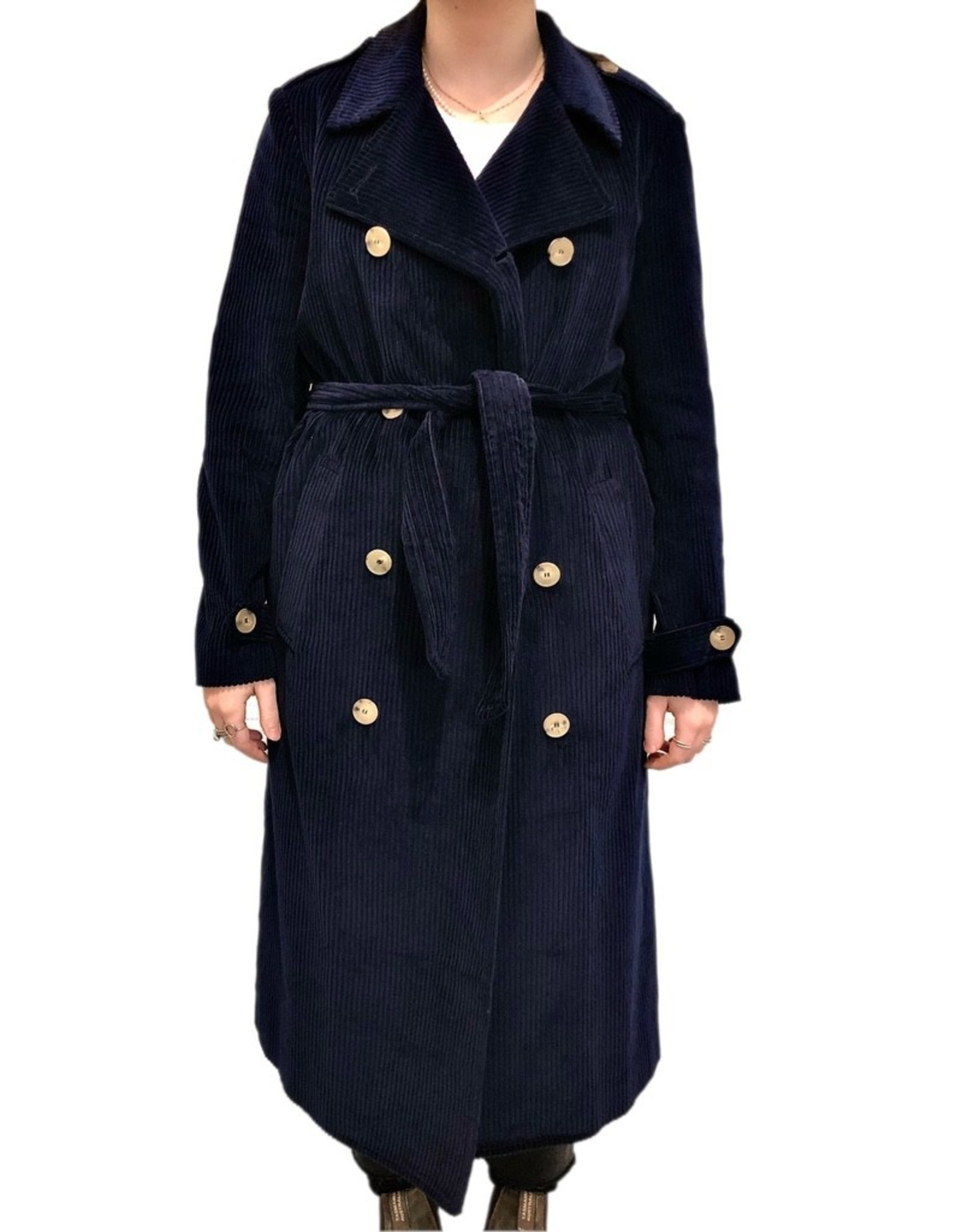 Good Match Cord Trench Coat
