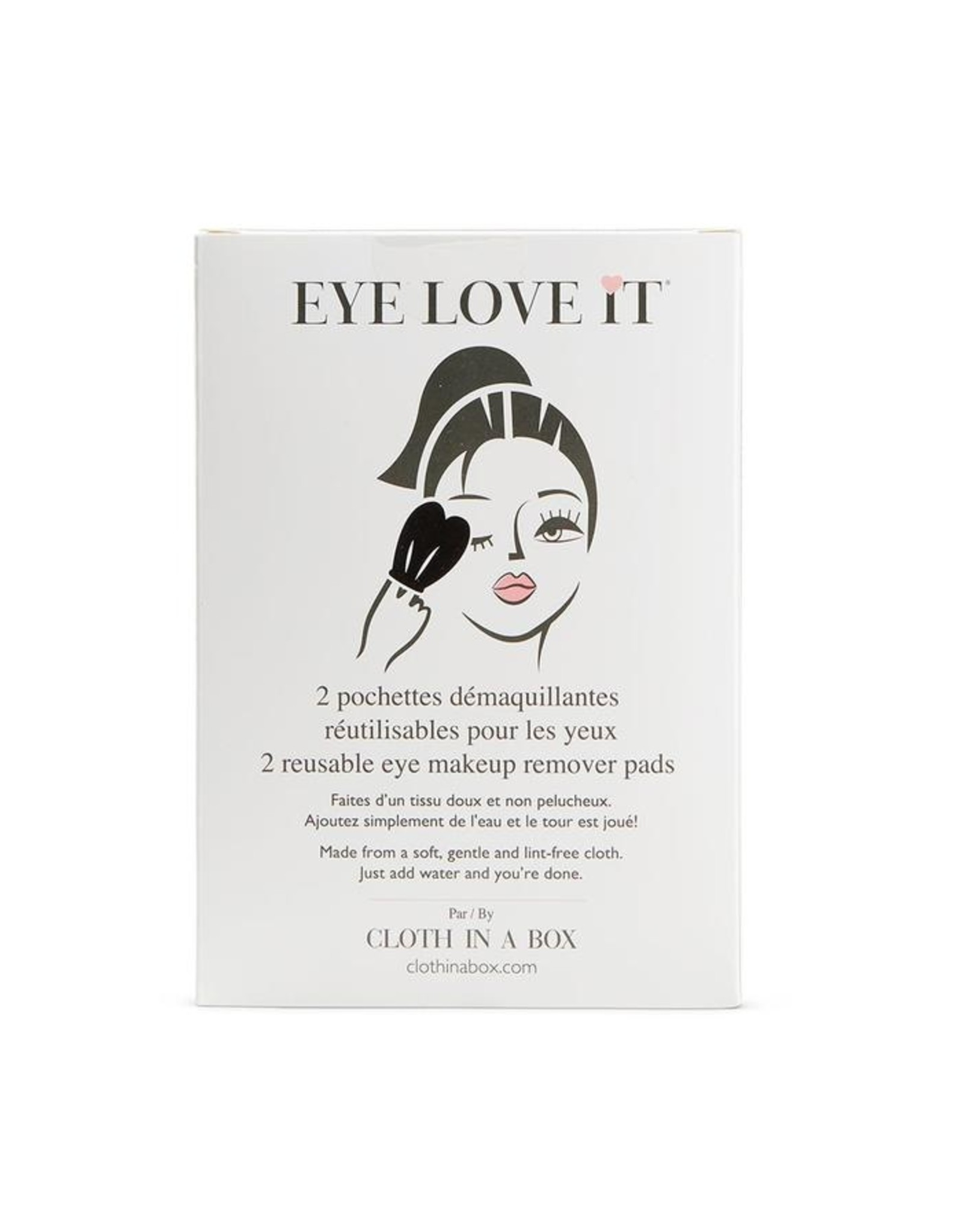 Eye Love It Eye Makeup Remover Pads, 2 pack