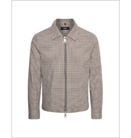 Matinique Bro Gingham Plaid Zip Up Club Jacket