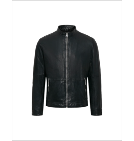 Matinique Adron Zip Up Leather Jacket