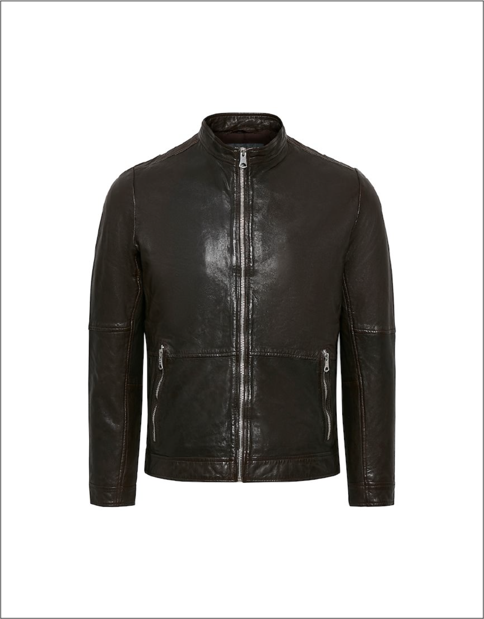 Matinique Matinique Adron Zip Up Leather Jacket