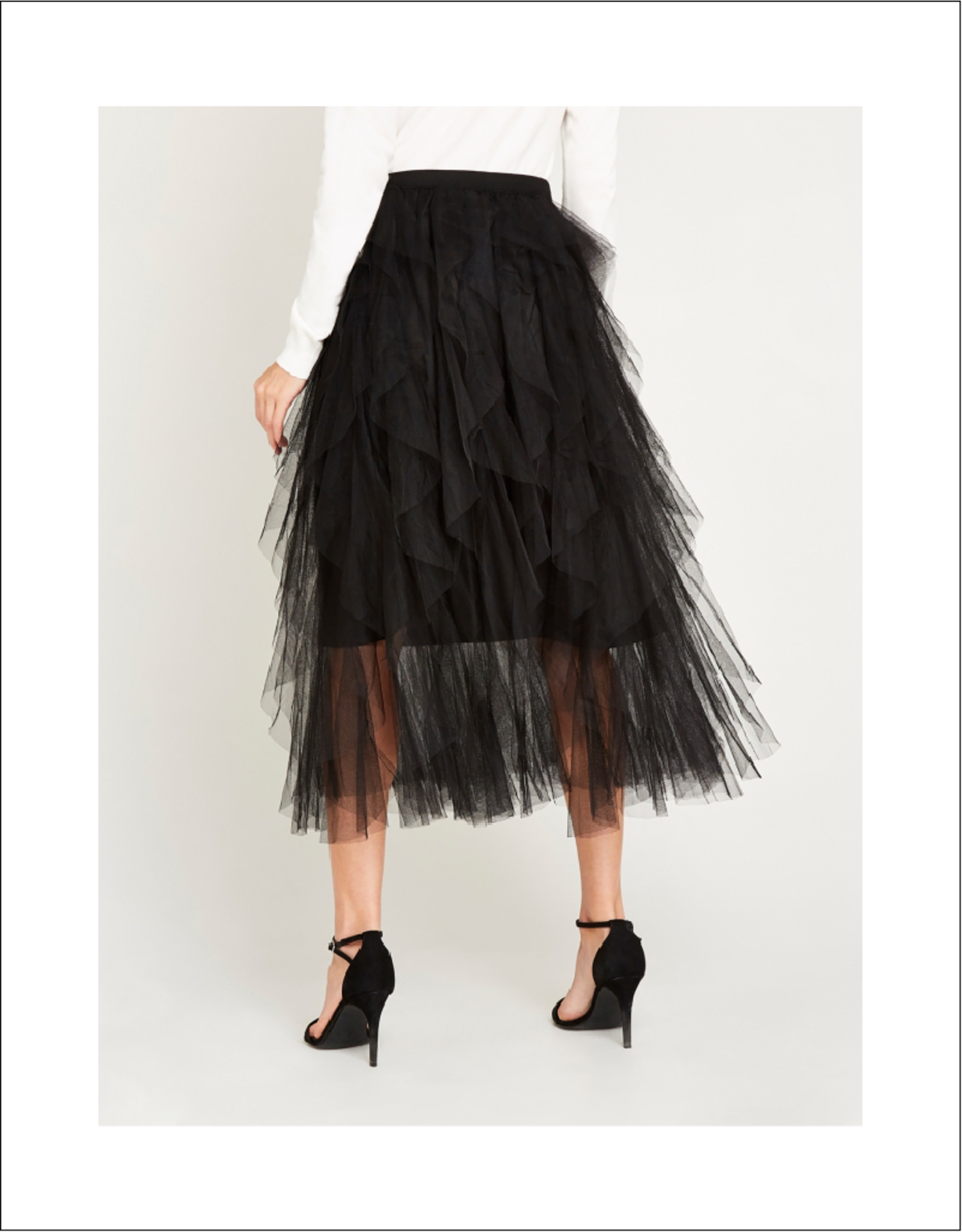 Apricot Apricot Layered Mesh Tulle Skirt