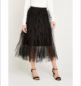 Apricot Layered Mesh Tulle Skirt