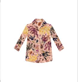 Lezalez 1/2 Sleeve Button Up Blouse