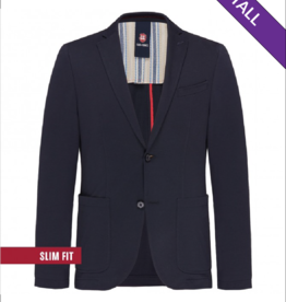 Club Of Gents Carter Slim Jersey Patch Blazer