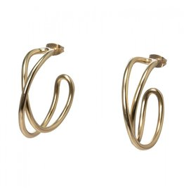 YaYa Twisted Hoop Earrings