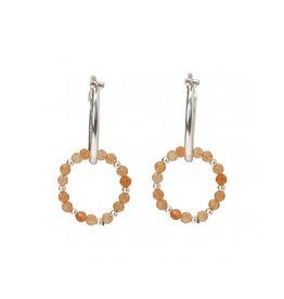 YaYa Double Hoop Earrings w/Stones
