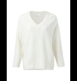 YaYa Mix Ribbed V-Neck Sweater