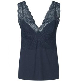 Rosemunde Semi Fitted Lace Silky Tank