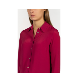 Good Match Button Up Silk Blouse