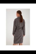 ICHI Ichi Button Front Wool Wrap Coat