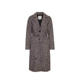 ICHI Button Front Wool Wrap Coat