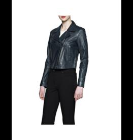 Bano eeMee Double Zip Leather Moto Jacket