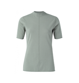 YaYa Half Mock Neck Centre Seam Fitted Top