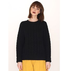 Pepaloves Cables Warm Sweater Black