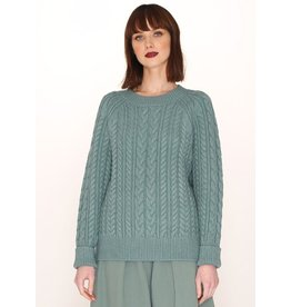 Pepaloves Cables Warm Sweater Green