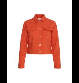ICHI Astik Crop Snap Club Jacket