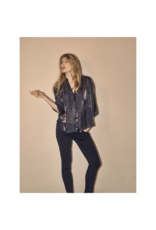 Mos Mosh Amal Wet Look Sheer Pull Over Blouse