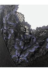 Rosemunde Rosemunde Lace Trim Silk Rib Tank