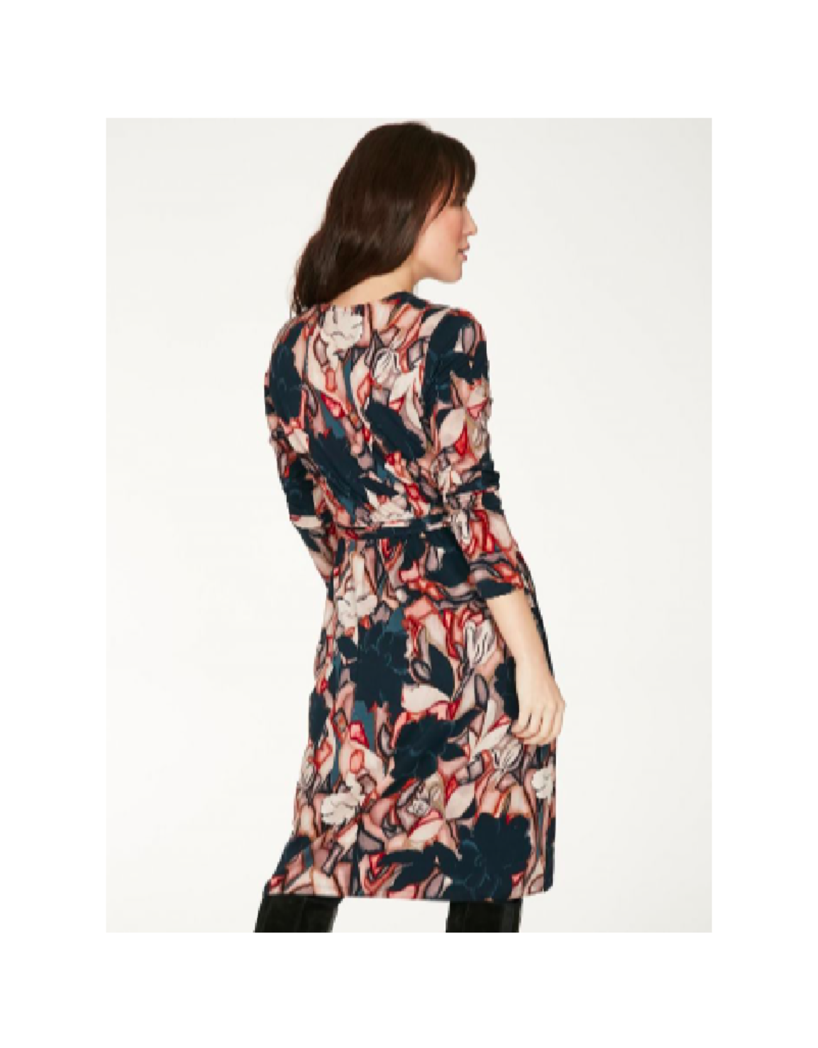 Thought Printed Wrap Dress