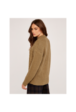 Apricot Cable Knit Sweater