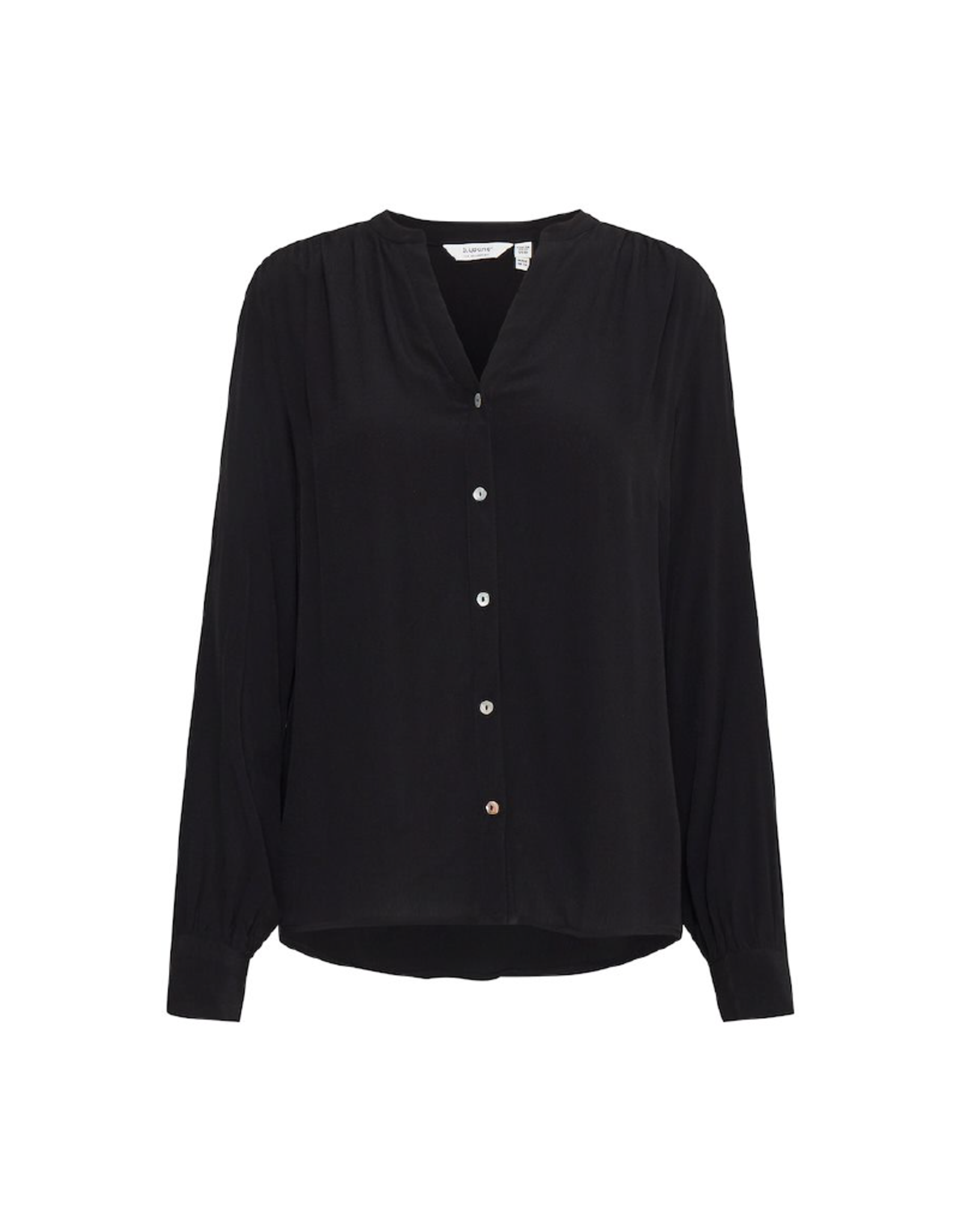 B. Young Crepe Button Up Blouse