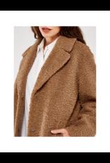 Apricot Borg Fur Oversize Coat