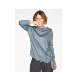 Thought Side Knot 3/4 Sleeve Boat-Neck Top
