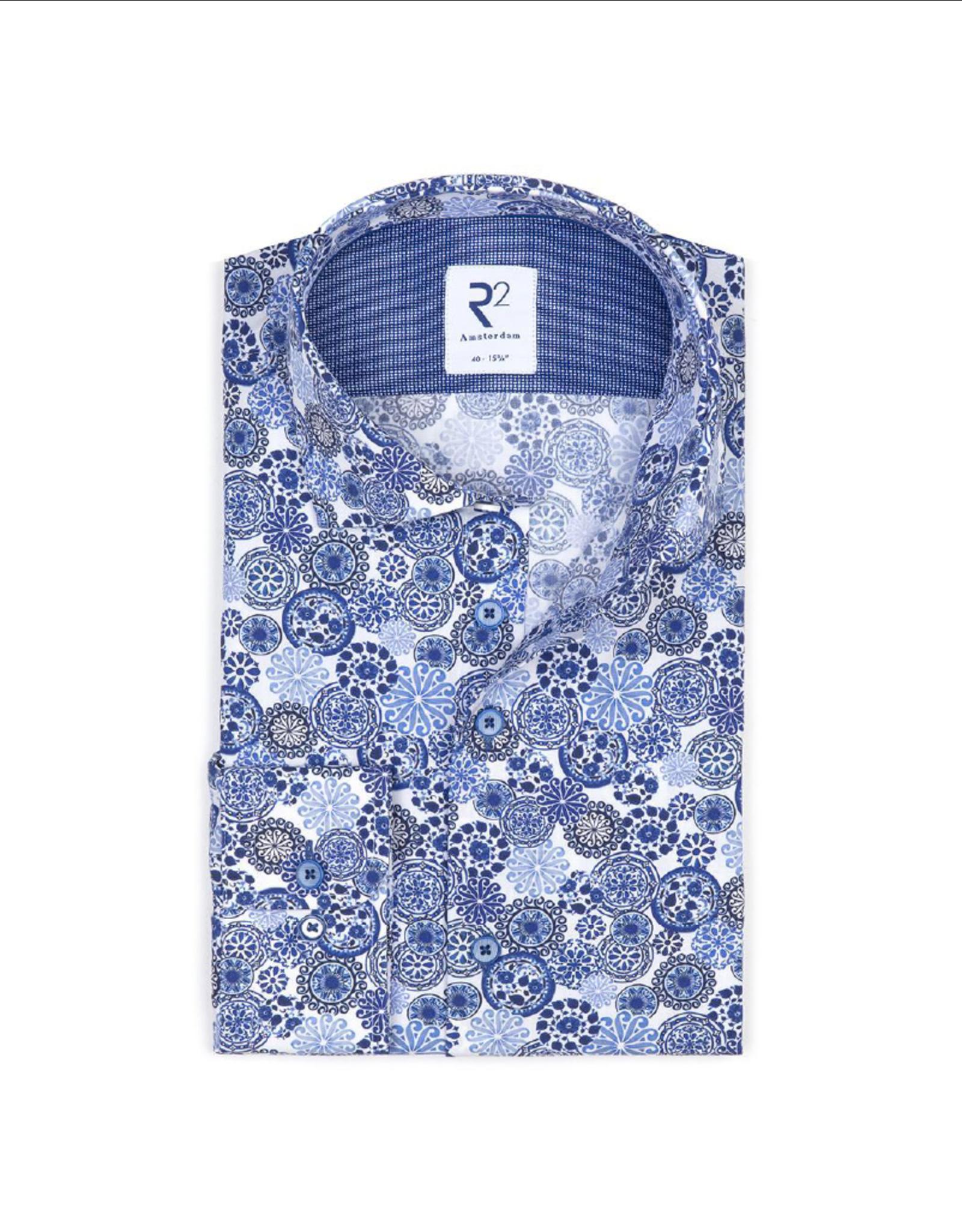 R2 Royal Blue Long-Sleeve Button Up Shirt