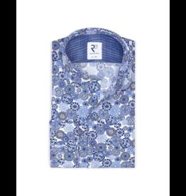 R2 Royal Blue L/S Button Up Shirt