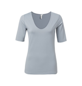 YaYa V-Neck Double Layer Fitted Tee
