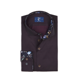 R2 L/S Button Up Shirt Bordeaux
