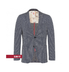 Club Of Gents Carter Slim Striped Jersey Blazer
